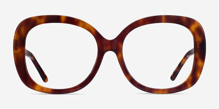 Pamela Tortoise Acetate Eyeglass Frames from EyeBuyDirect, Front View