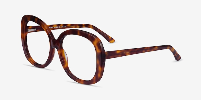 Pamela Tortoise Acetate Eyeglass Frames from EyeBuyDirect, Angle View