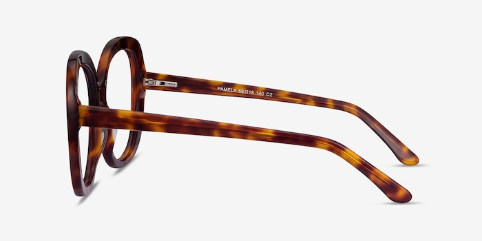 Pamela Tortoise Acetate Eyeglass Frames from EyeBuyDirect, Side View
