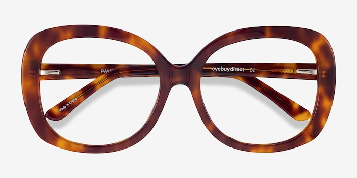 Pamela Tortoise Acetate Eyeglass Frames from EyeBuyDirect, Closed View