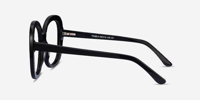 Pamela Black Acetate Eyeglass Frames from EyeBuyDirect, Side View