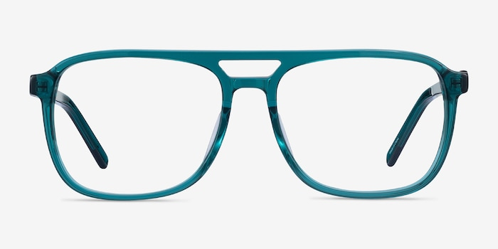 Russell Teal Acetate Eyeglass Frames from EyeBuyDirect, Front View
