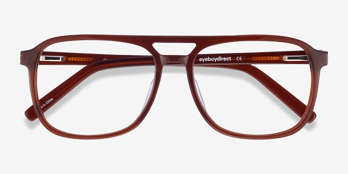 Russell Brown Acetate Eyeglass Frames from EyeBuyDirect, Closed View