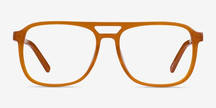 Russell Mellow Yellow Acetate Eyeglass Frames from EyeBuyDirect, Front View