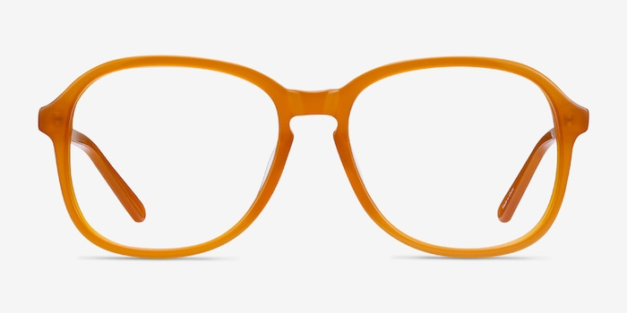 Randy Mellow Yellow Acetate Eyeglass Frames from EyeBuyDirect, Front View