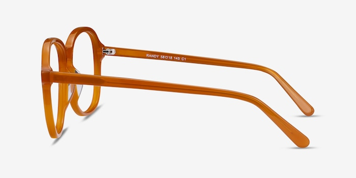 Randy Mellow Yellow Acetate Eyeglass Frames from EyeBuyDirect, Side View