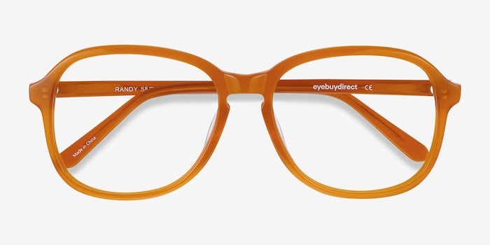 Randy Mellow Yellow Acetate Eyeglass Frames from EyeBuyDirect, Closed View