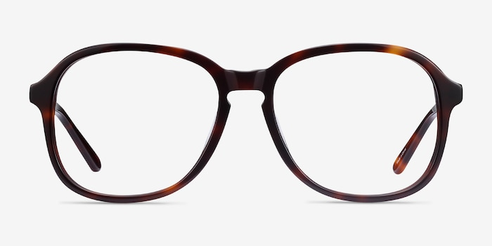 Randy Tortoise Acetate Eyeglass Frames from EyeBuyDirect, Front View