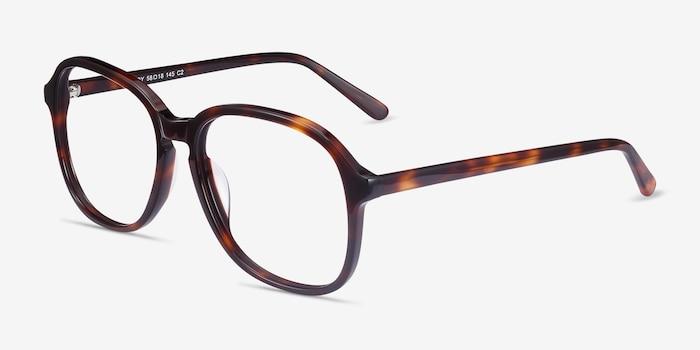 Randy Tortoise Acetate Eyeglass Frames from EyeBuyDirect, Angle View
