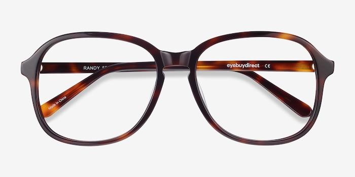 Randy Tortoise Acetate Eyeglass Frames from EyeBuyDirect, Closed View