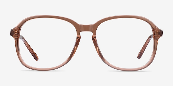 Randy Brown Acetate Eyeglass Frames from EyeBuyDirect, Front View