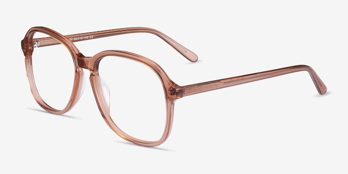 Randy Brown Acetate Eyeglass Frames from EyeBuyDirect, Angle View