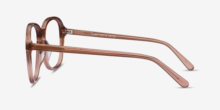 Randy Brown Acetate Eyeglass Frames from EyeBuyDirect, Side View