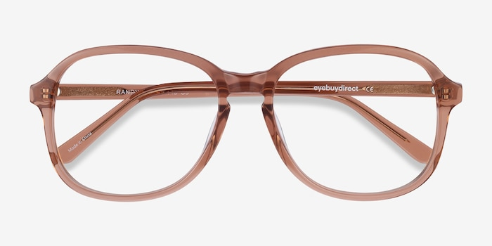 Randy Brown Acetate Eyeglass Frames from EyeBuyDirect, Closed View