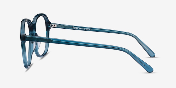 Randy Teal Acetate Eyeglass Frames from EyeBuyDirect, Side View