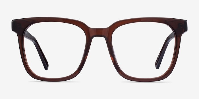 Kenneth Coffee Acetate Eyeglass Frames from EyeBuyDirect, Front View