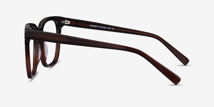 Kenneth Coffee Acetate Eyeglass Frames from EyeBuyDirect, Side View