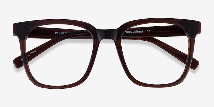 Kenneth Coffee Acetate Eyeglass Frames from EyeBuyDirect, Closed View