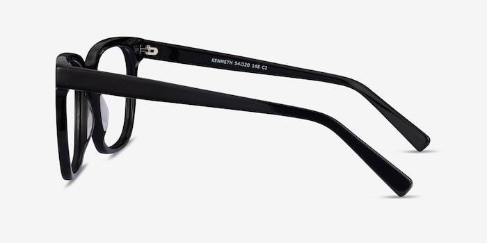 Kenneth Black Acetate Eyeglass Frames from EyeBuyDirect, Side View