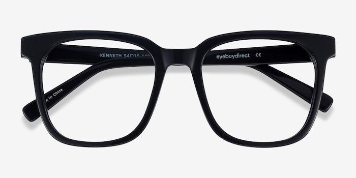 Kenneth Black Acetate Eyeglass Frames from EyeBuyDirect, Closed View