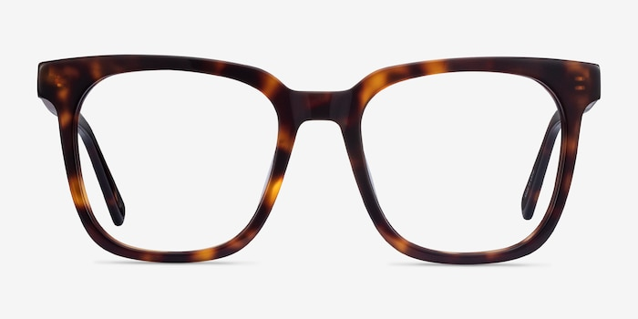 Kenneth Tortoise Acetate Eyeglass Frames from EyeBuyDirect, Front View