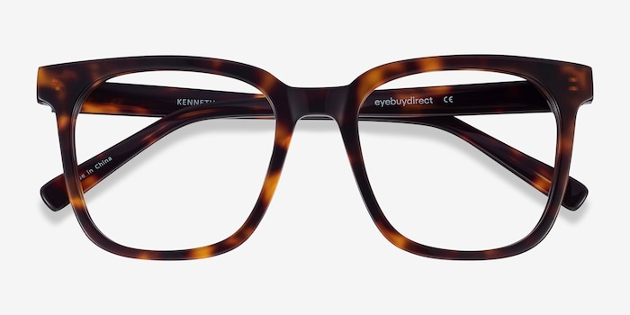Kenneth Tortoise Acetate Eyeglass Frames from EyeBuyDirect, Closed View