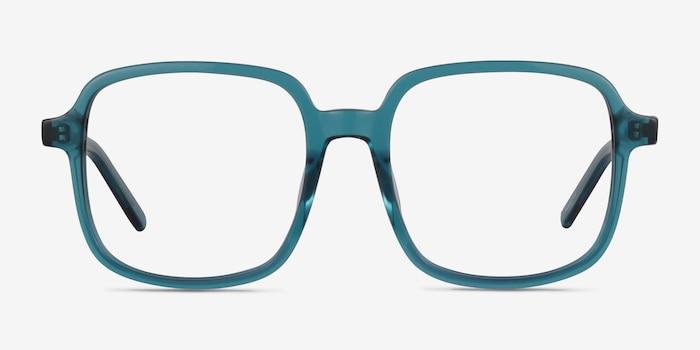 Gaston Teal Acétate Montures de Lunette de vue d'EyeBuyDirect, Vue de Face
