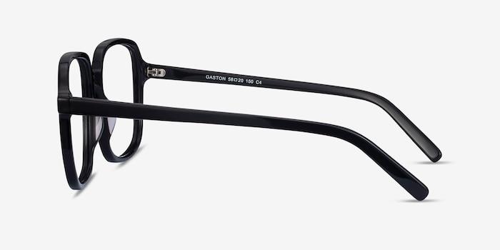 Gaston Black Acetate Eyeglass Frames from EyeBuyDirect, Side View