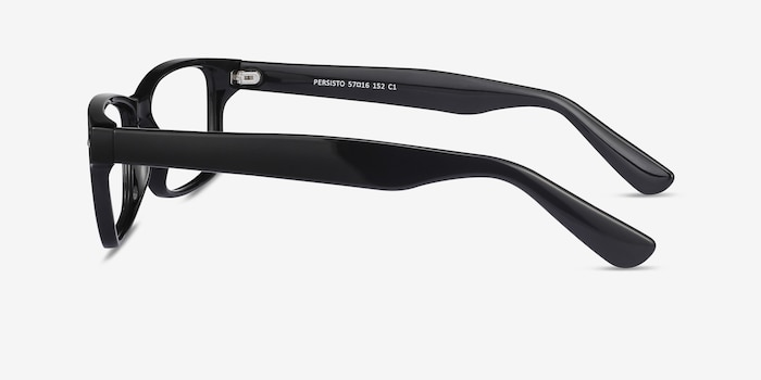 Persisto Black Plastic Eyeglass Frames from EyeBuyDirect, Side View