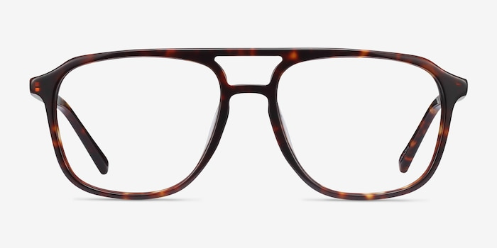 Effect Tortoise Acetate Eyeglass Frames from EyeBuyDirect, Front View