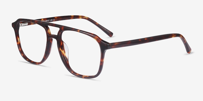 Effect Tortoise Acetate Eyeglass Frames from EyeBuyDirect, Angle View