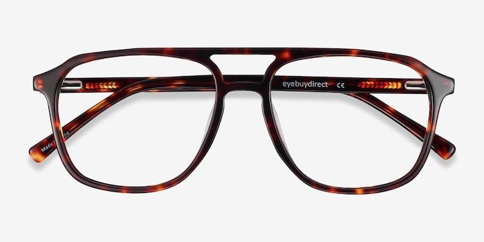 Effect Tortoise Acetate Eyeglass Frames from EyeBuyDirect, Closed View