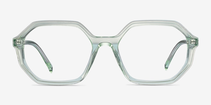Dream Clear Green Acetate Eyeglass Frames from EyeBuyDirect, Front View