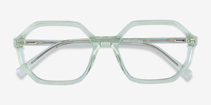 Dream Clear Green Acetate Eyeglass Frames from EyeBuyDirect, Closed View