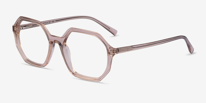 Dream Clear Brown Acetate Eyeglass Frames from EyeBuyDirect, Angle View