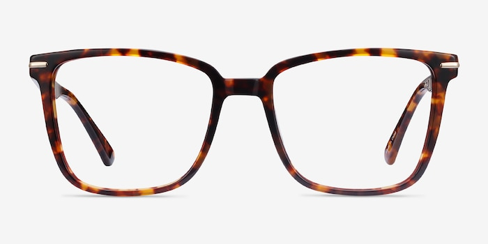 Canvas Tortoise Acetate Eyeglass Frames from EyeBuyDirect, Front View