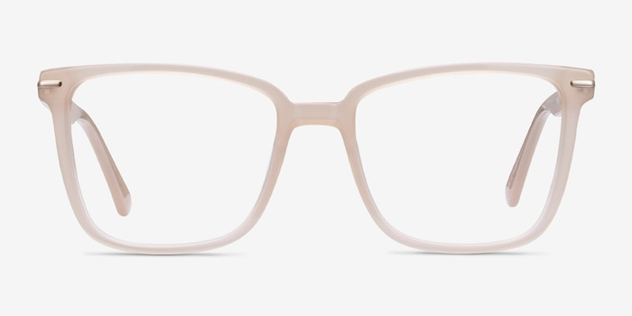 Canvas Beige Acetate Eyeglass Frames from EyeBuyDirect, Front View