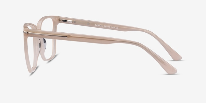 Canvas Beige Acetate Eyeglass Frames from EyeBuyDirect, Side View