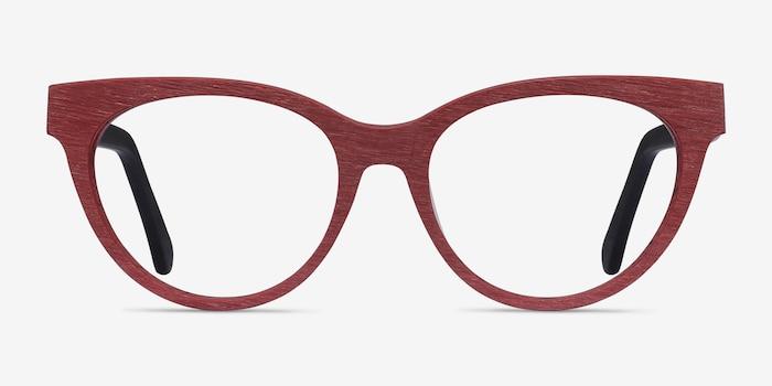 Paula Berry Red Acétate Montures de Lunette de vue d'EyeBuyDirect, Vue de Face