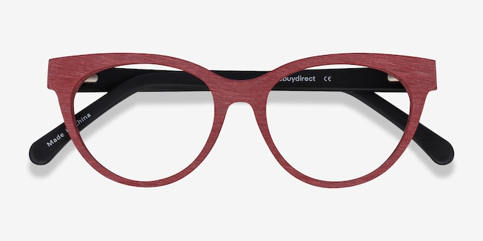 Paula Berry Red Acetate Eyeglass Frames from EyeBuyDirect, Closed View
