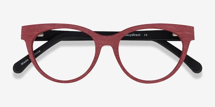 Paula Berry Red Acétate Montures de Lunette de vue d'EyeBuyDirect, Vue Rapprochée