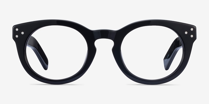 Morla Black Acetate Eyeglass Frames from EyeBuyDirect, Front View