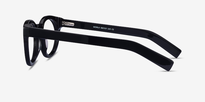 Morla Black Acetate Eyeglass Frames from EyeBuyDirect, Side View