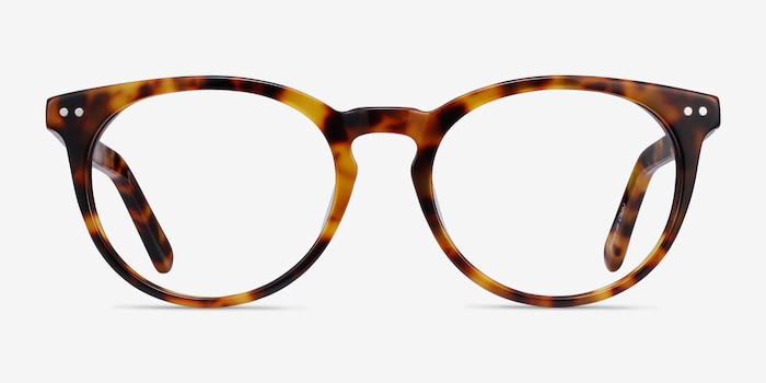 Morning Tortoise Acetate Eyeglass Frames from EyeBuyDirect, Front View