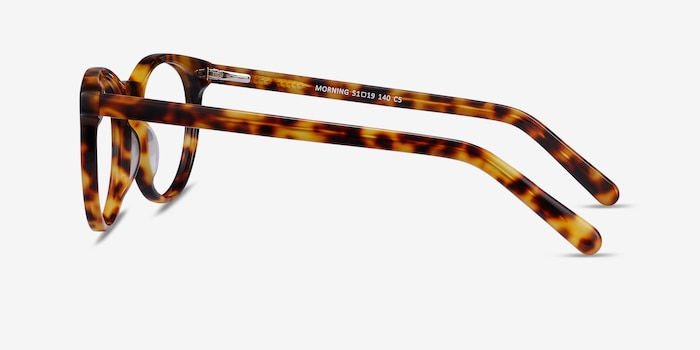 Morning Tortoise Acetate Eyeglass Frames from EyeBuyDirect, Side View