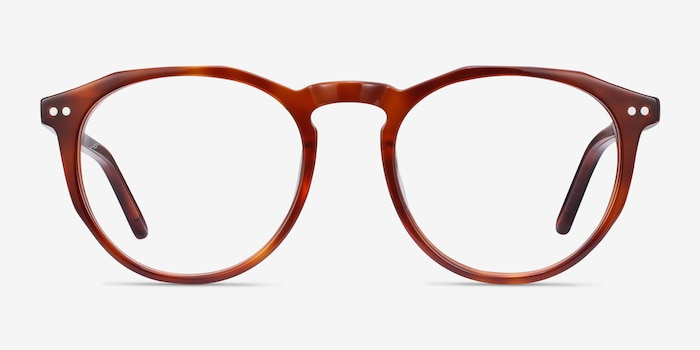 Planete Tortoise Acetate Eyeglass Frames from EyeBuyDirect, Front View