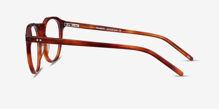 Planete Tortoise Acetate Eyeglass Frames from EyeBuyDirect, Side View