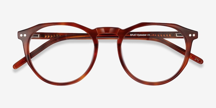 Planete Tortoise Acetate Eyeglass Frames from EyeBuyDirect, Closed View