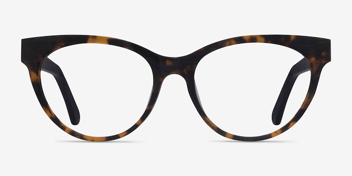 Paula Tortoise Acetate Eyeglass Frames from EyeBuyDirect, Front View