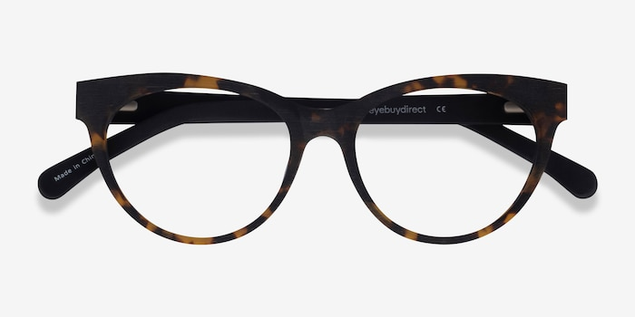 Paula Tortoise Acetate Eyeglass Frames from EyeBuyDirect, Closed View